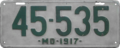Maryland license plate, 1917.png