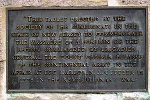 The Affair at Little Egg Harbor - Massacre plaque