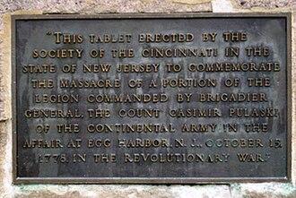 Little Egg Harbor Township, New Jersey - Plaque commemmorating the Little Egg Harbor massacre monument