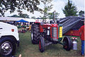 Massey Ferguson 98 and Oliver Super 99 hybrid at the Summer 2006 Pioneer Gas & Steam Engine Society Show in Saegertown, PA.jpg