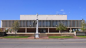 Matagorda County, Texas - Image: Matagorda County Texas Courthouse 2016
