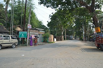 Baduria - Image: Matia Baduria Road Dhalipara Baduria North 24 Parganas 2015 04 11 7268