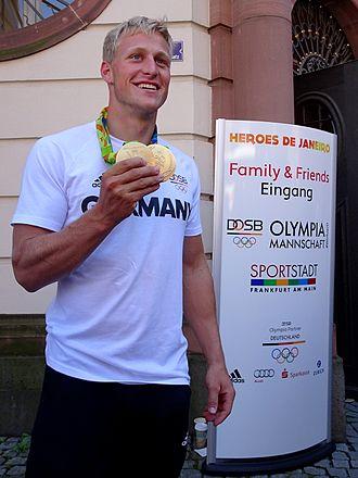 Max Rendschmidt - Image: Max Rendschmidt Kanute Olympia Rio Brasilien Doppel Goldgewinner