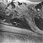 McCarthy Glacier, junction of tidewater glacier, icefall and bergschrund, September 4, 1977 (GLACIERS 6630).jpg