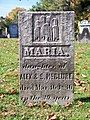 McClure (Maria), Lebanon Church Cemetery, 2015-10-23, 01.jpg