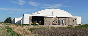 McCook Army Air Field - Hangar at McCook AAF, now used for farm storage