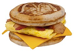 A bacon, egg & cheese McGriddles
