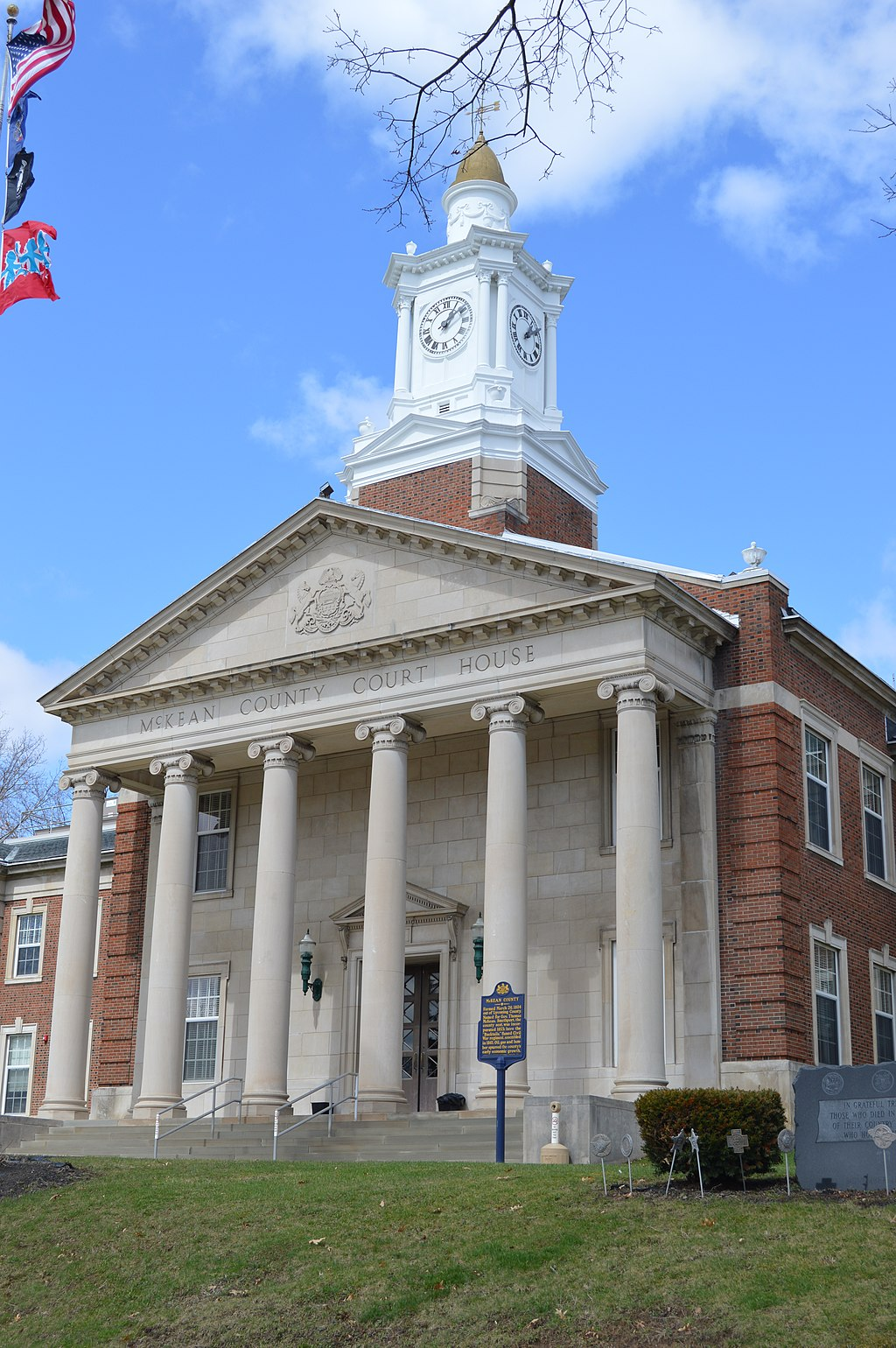 McKean County Courthouse main entrance