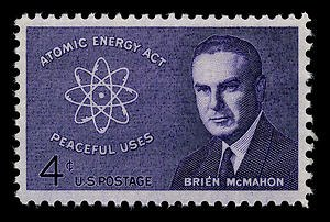 Brien McMahon - McMahon Commemorative Stamp, 1962