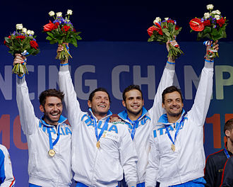 Men's team sabre at the 2015 World Fencing Championships - 2015 World champions Italy