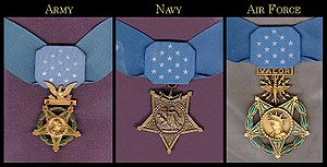 Inter-service awards and decorations of the United States military - Image: Medalsofhonor