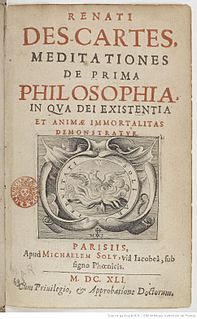 <i>Meditations on First Philosophy</i> philosophy book by Descartes