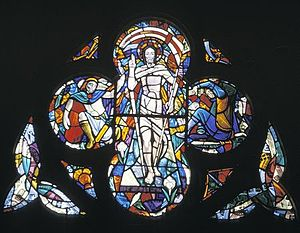 St. Basil's Church, Toronto - Image: Meechan j resurrection stainedglass