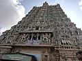 Meenakshi temple west tower.jpg