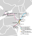 Megabus (United States) map Northeast network.png