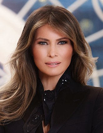 First Lady of the United States - Image: Melania Trump official portrait (cropped)