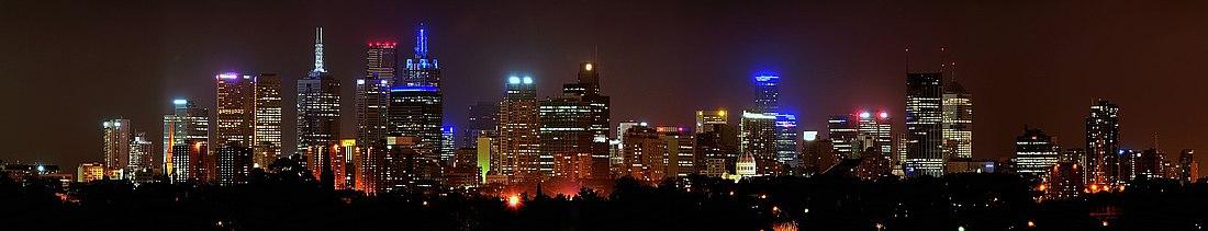 Nokta panoramo de Melburno