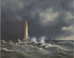 Anton Melbye - Eddystone Lighthouse