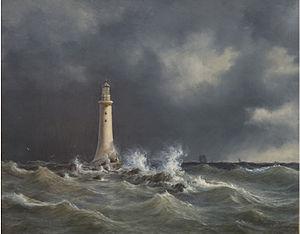 Anton Melbye - Eddystone Lighthouse