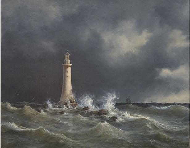 Eddystone Oil Painting