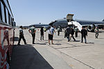 Members of the Kyrgyzstan military prepare to board a KC-135 Stratotanker aircraft during a static display on the flight line Aug. 24, 2010, at the Transit Center at Manas, Kyrgyzstan 100824-F-RX342-033.jpg