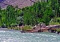 Men constructing a bridge, Ghizar District, Gilgit-Baltistan.jpg
