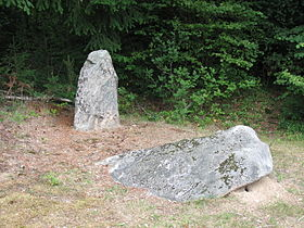 Menhirs de Barbouly sur la commune de Sainte-Christine.