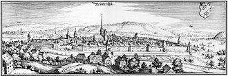 Winterthur - Winterthur in 1642