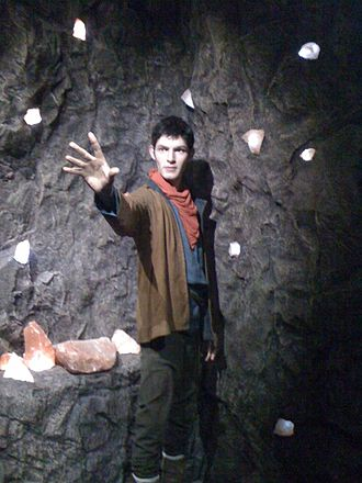 Merlin (2008 TV series) - Merlin wax work at Warwick Castle