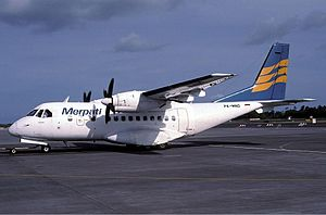 Science and technology in Indonesia - Merpati Nusantara's CN-235.