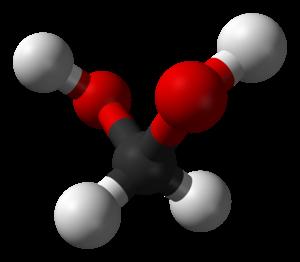Methanediol - Image: Methanediol 3D balls