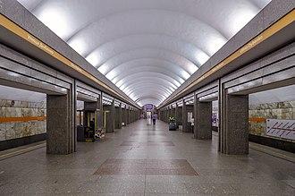 Ulitsa Dybenko (Saint Petersburg Metro) - Image: Metro SPB Line 4 Ulitsa Dybenko
