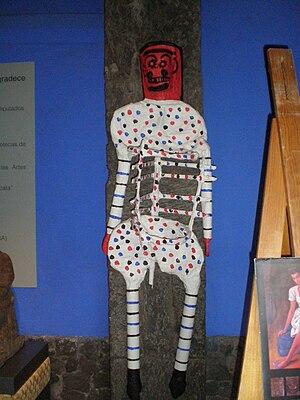 Frida Kahlo Museum - Papier-mâché sculpture at the museum