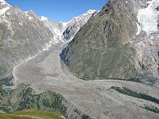 Miage Glacier italian glacier