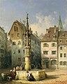 Michael Neher - Der Fischmarktbrunnen in Basel (1852).jpg