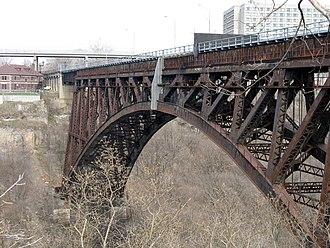 Michigan Central Railway Bridge - Bridge in Spring 2009