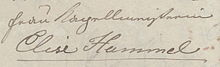 """Anna Milder, Brief an ihre Freundin """"Elise Hummel"""", 1830 (Auszug)– Düsseldorf, Goethe-Museum (Quelle: Wikimedia)"""