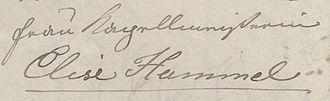 "Elisabeth Röckel - Letter from Anna Milder-Hauptmann to ""Elise Hummel"", 1830 (fragment), Düsseldorf, Goethe-Museum"