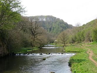 Millers Dale - The river Wye at Millers Dale