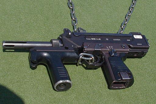 Minebea 9mm submachine gun 20120408