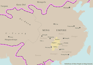 Miao rebellions under the Ming dynasty rebellions in China