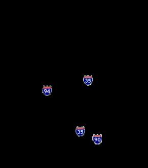 List Of Interstate Highways In Minnesota Wikipedia
