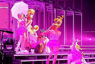 Kiss Me Once Tour - Kylie Minogue performs the 80's medley of her Kiss Me Once Tour at  Bercy, Paris, November 2014