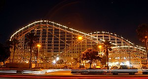Mission Beach, San Diego - Mission Beach rollercoaster