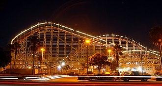 Giant Dipper (Belmont Park) - Wooden roller coaster in Belmont Park