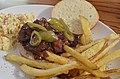 Mmm... BBQ pork with fries and cole slaw (8091788453).jpg