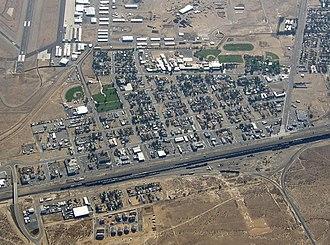 Mojave, California - Image: Mojave aerial 070909 03cr