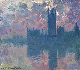 Cityscape - Houses of Parliament, Sunset, 1902, by Claude Monet