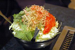 Monjayaki - Monjayaki before cooking