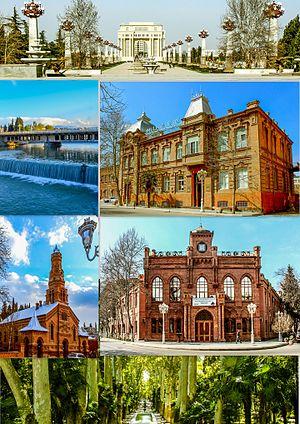Ganja, Azerbaijan - Image: Montage of Ganja city 2016